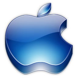 Apple 3D Blue Logo